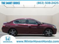 100,000 MILE WARRANTY!! HONDA CERTIFIED!! SPORT PKG!!