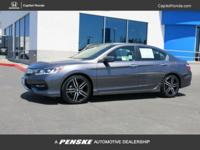 Clean CARFAX. Gray 2017 Honda Accord Sport Special