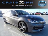 CARFAX One-Owner. Clean CARFAX. Gray 2017 Honda Accord