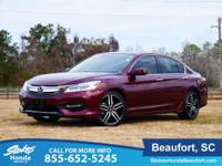CARFAX One-Owner. Clean CARFAX. Red 2017 Honda Accord