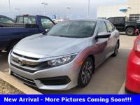 Recent Arrival! Civic EX, 4D Sedan, 2.0L I4 DOHC 16V