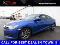 Aegean Blue Metallic 2017 Honda Civic LX FWD CVT 2.0L