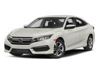 2017 Honda Civic LX Iv Cloth. Taffeta White 2.0L I4