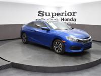 CARFAX One-Owner. Clean CARFAX. Blue 2017 Honda Civic