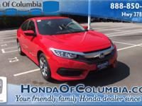 2017 Honda Civic LX 31/40mpg** 40/31 Highway/City