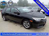 This 2017 Civic sedan is a one owner vehicle with a