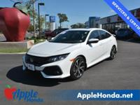 CARFAX One-Owner. Clean CARFAX. White 2017 Honda Civic