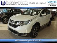 CARFAX One-Owner. Certified. White 2017 Honda CR-V