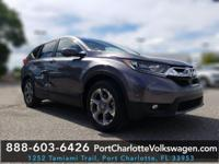 CARFAX One-Owner. Clean CARFAX. Gray 2017 Honda CR-V