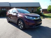 Clean CARFAX. Certified. Maroon 2017 Honda CR-V LX FWD