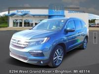 Options:  2017 Honda Pilot Elite|Blue|New Price! Carfax