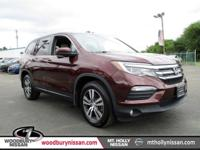 CARFAX One-Owner. 2017 Honda Pilot EX-L w/Rear