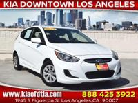 Clean CARFAX. White 2017 Hyundai Accent SE 4D Hatchback