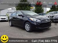 Ultra Black 2017 Hyundai Accent SE FWD 6-Speed 1.6L I4