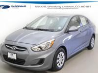 Silver 2017 Hyundai Accent SE FWD 6-Speed Automatic