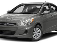 CARFAX One-Owner. Gray 2017 Hyundai Accent SE FWD