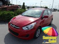 CARFAX One-Owner. Clean CARFAX. Red 2017 Hyundai Accent