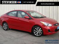 2017 Hyundai Accent Value Edition Pulse Red 6-Speed