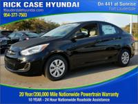 2017 Hyundai Accent SE  in Ultra Black. My! My! My!