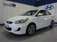 White 2017 Hyundai Accent SE FWD 6-Speed Automatic with