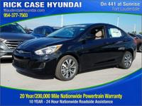 2017 Hyundai Accent Value Edition  in Ultra Black and