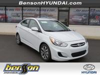 White 2017 Hyundai Accent Value Edition FWD 6-Speed