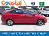 Red 2017 Hyundai Accent Value Edition FWD 6-Speed