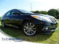 This 2017 Hyundai Azera Base Black with a Leather