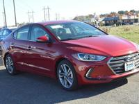 2017 Hyundai Elantra Limited  in Scarlet Red. 17 Alloy