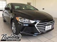 New Price! 2017 Hyundai Elantra in Black, AUX