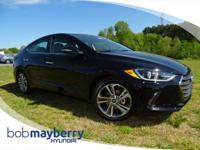 This 2017 Hyundai Elantra Limited 4dr Sedan Black Noir