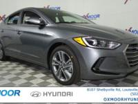 2017 Hyundai Elantra Price includes: $500 - Black