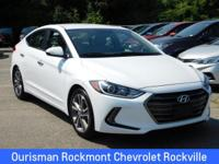 CARFAX One-Owner. 2017 Hyundai Elantra Limited **SEE
