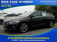 2017 Hyundai Elantra Limited  in Black and 20 year or