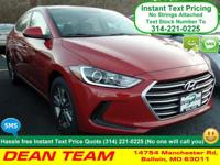 Lead the way in our 2017 Hyundai Elantra SE in Scarlet