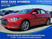 2017 Hyundai Elantra Limited  in Red and 20 year or