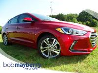 This 2017 Hyundai Elantra Red Bob Mayberry Hyundai