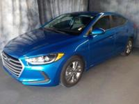 Clean CARFAX. Electric Blue Metallic 2017 Hyundai