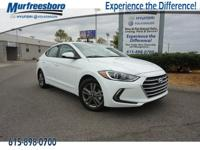 2017 Hyundai Elantra SE White Pearl EXCLUSIVE LIFETIME