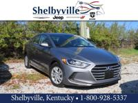 CARFAX One-Owner. 2017 Hyundai Elantra SE FWD 6-Speed