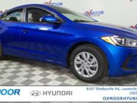 2017 Hyundai Elantra SE 38/29 Highway/City MPG Price