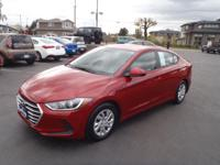 CARFAX One-Owner. 2017 Hyundai Elantra SE Red One