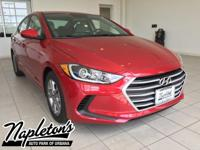 2017 Hyundai Elantra in Red, AUX CONNECTION, USB,