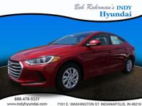 2017 Hyundai Elantra SE Red WITH SOME AVAILABLE OPTIONS