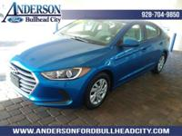 Electric Blue 2017 Hyundai Elantra SE FWD 6-Speed