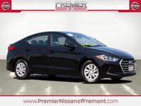 CARFAX One Owner. Clean CARFAX. Black 2017 Hyundai