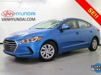 Elantra SE, Lakeside Blue, ABS brakes, Electronic