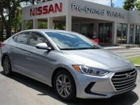 CARFAX One-Owner. shale gray metallic 2017 Hyundai
