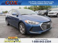 This 2017 Hyundai Elantra SE in is well equipped with: