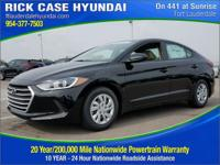 2017 Hyundai Elantra SE  in Phantom Black and 20 year